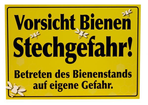 """Warnschild """"Vorsicht Bienen Stechgefahr!"""""""
