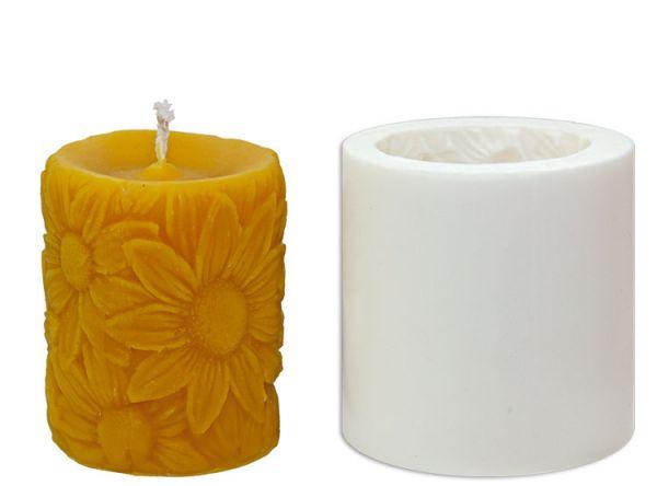 Kerze Sonnenblumen
