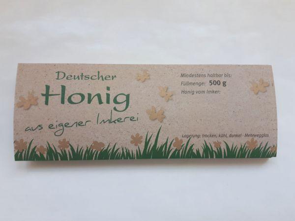 """Honigglas-Etikett """"Natura"""""""
