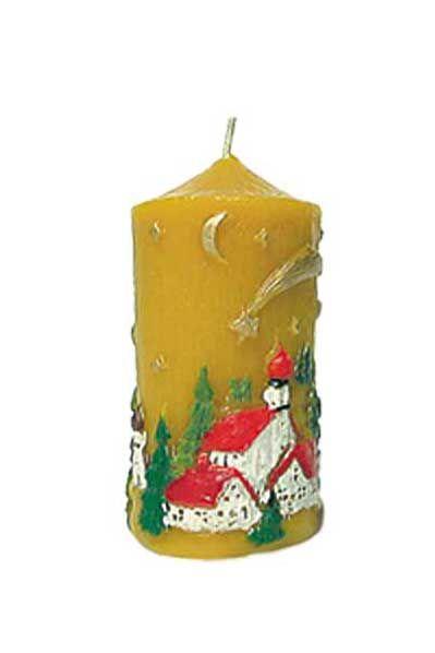 Gießform Kerze mit Winterlandschaft