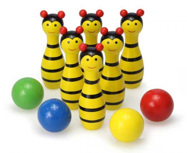 Holz Bienen Kegelspiel