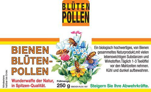 Etikett Blütenpollen