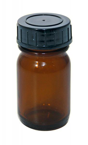 Lichtschutzglas 30 ml mit Weithalsschraubdeckel