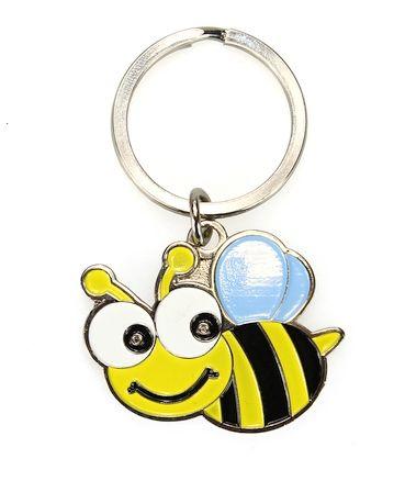 """Schlüsselanhänger """"Biene mit blauen Flügeln"""""""