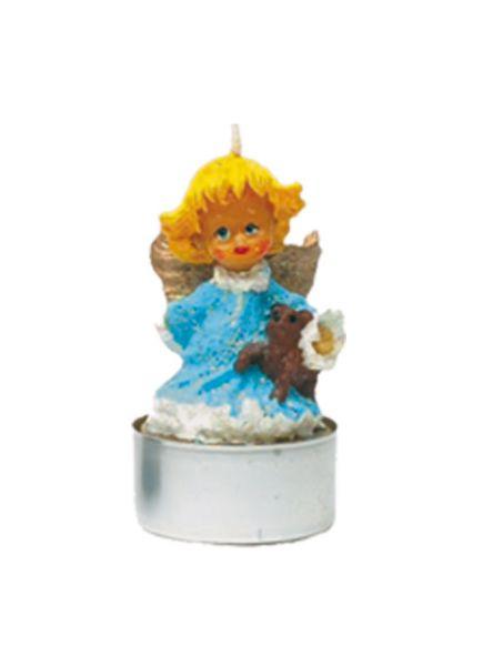 Engel, mit Teddy, Teelicht