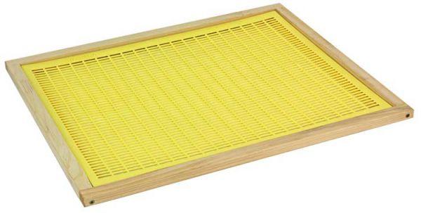 Liebig Absperrgitter Kunststoff mit Holzrahmen