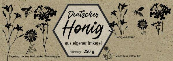 """Honigglas-Etikett """"ÖKO-Wiese"""""""