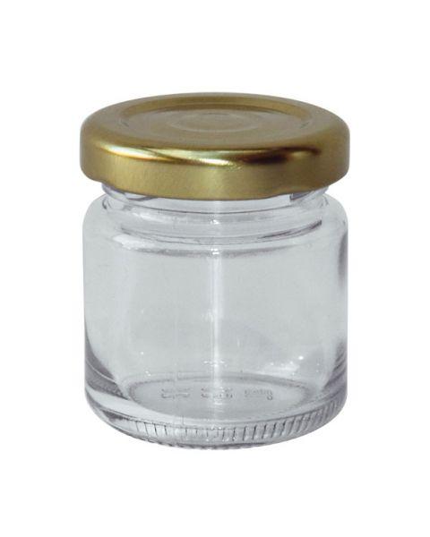 Rundgläser für 50 g Honig