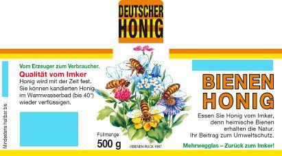 Honig-Etiketten mit Namenseindruck