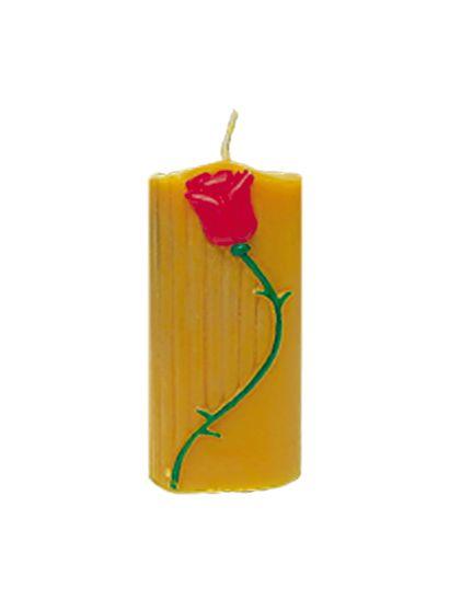 Zierkerze mit Rose, klein