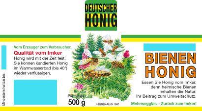 Wald-Honig-Etiketten mit Namenseindruck