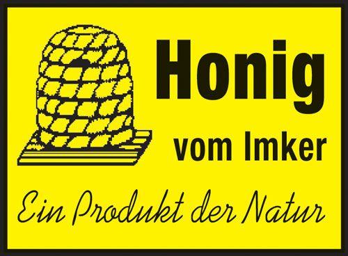 """Honig-Werbeschild """"Honig vom Imker"""""""
