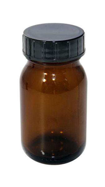 Lichtschutz-Flasche 100 ml mit Weithalsschraubdeckel