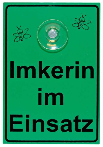 """Saugnapfschild """"Imkerin im Einsatz"""""""