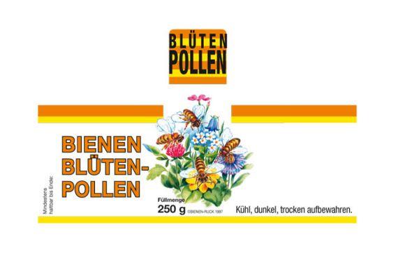 Etikett Blütenpollen 250 g