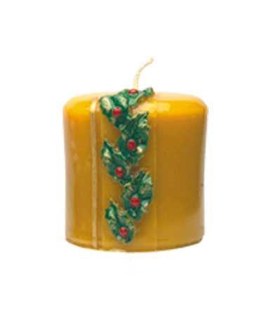 Kerze mit Distelranke