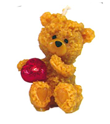 Gießform Teddy mit Herz