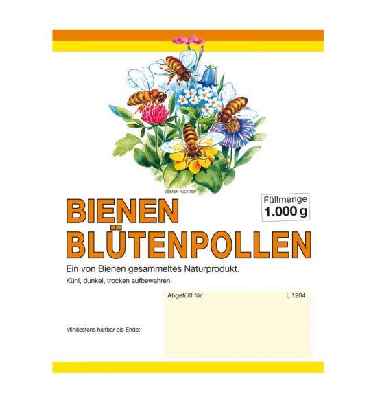 Etikett Blütenpollen 1000g