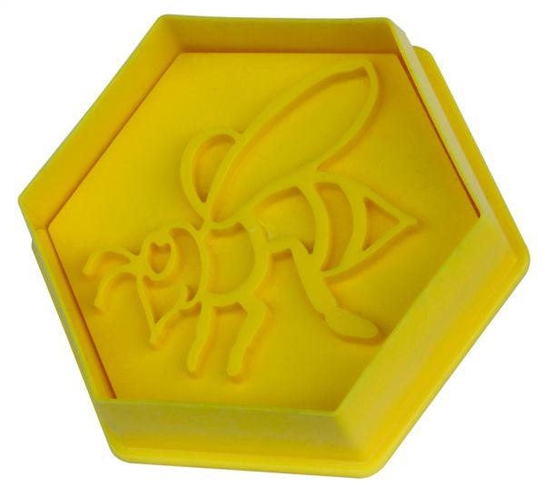 RuBee® Ausstechform Sechseck Biene