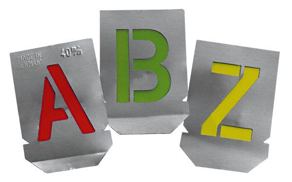 Mal - Schablone Buchstaben A-Z