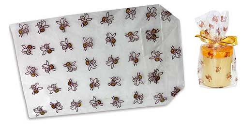 Klarsichtbeutel mit Bienenmotiv klein