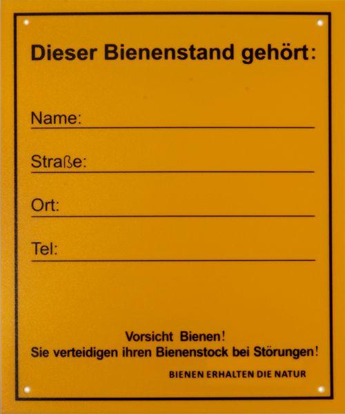 """Infoschild """"Bienenstand"""""""