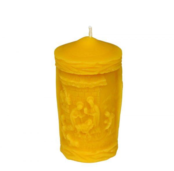 Gießform Kerze mit Krippe
