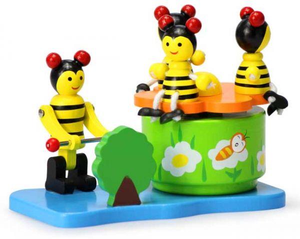 Holz Bienen Spieluhr