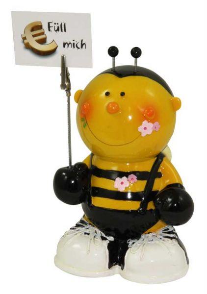 """Sparbüchse """"Biene mit Notizhalter"""""""