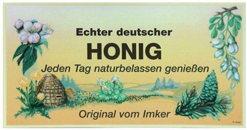 """Klebe-Werbeschild """"Echter Deutscher Honig"""""""