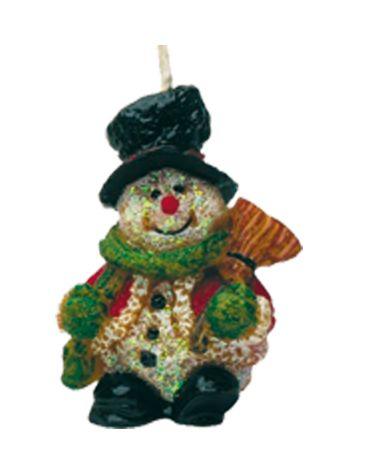 Schneemann, mit Besen