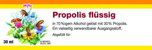 Etikett Propolis flüssig